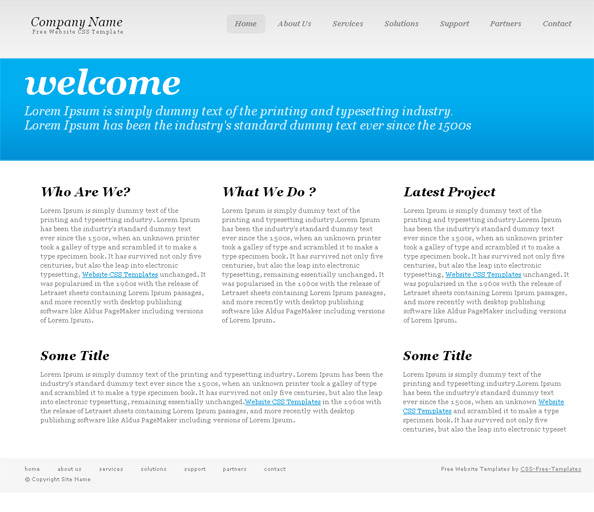 Simple typography website css template website css templates for Simple html css templates