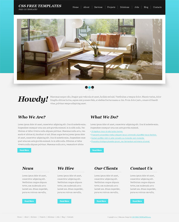 basic blue website css template with great jquery slider website css templates. Black Bedroom Furniture Sets. Home Design Ideas