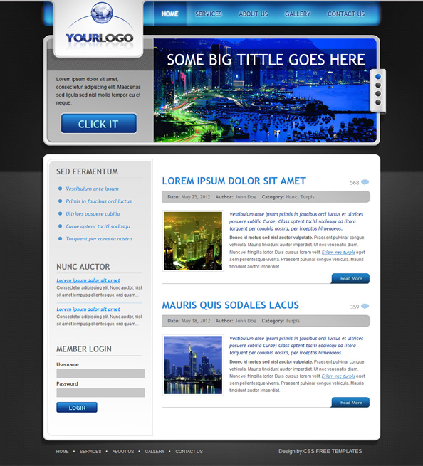 Milinprize home for Website templates free download html with css