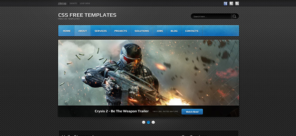 Dark Website CSS Template for Portfolios, Games and IT ... - photo#19