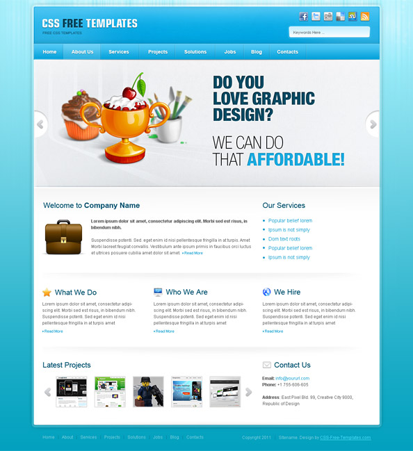 Website templates for business free download