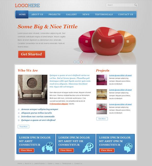 Free portfolio website css template with jquery slider