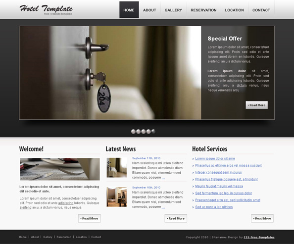 Css Templates Hotels Hotel Free Css Website
