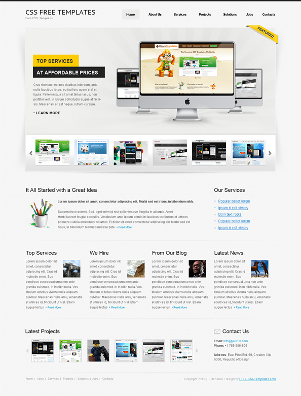free website css template for personal portfolio website css templates. Black Bedroom Furniture Sets. Home Design Ideas