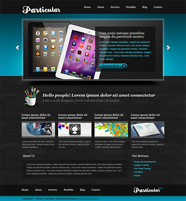 Free Website CSS Template - Particular - Website CSS Templates - photo#50